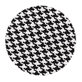 100% Super 150s Grey Houndstooth Wool (Italy)