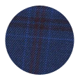 100% Super 150s Red Check Navy Wool (Italy)