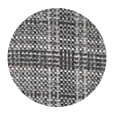 100% Super 120s Grey Check Wool (Italy)