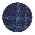 100% Super 120s Blue Check Wool (Italy)