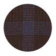 100% Super 120s Blue Check Brown Wool (Italy)