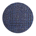 Steel Blue Plaid Wool & Cashmere (Italy)