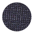 100% Charcoal Blue Melange Wool with Natural Stretch (Italy)