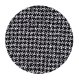 100% Grey Houndstooth Wool with Natural Stretch (Italy)