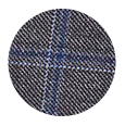 100% Super 110s Grey Windowpane Pick & Pick Wool (Italy)
