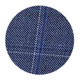 100% Super 110s Sky Blue Windowpane Pick & Pick Wool (Italy)