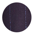 100% Super 150s Blue Stripe Navy Wool (Italy)