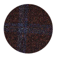 Blue Windowpane Brown Wool & Cashmere (Italy)