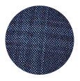 Steel Blue Check Wool & Cashmere (Italy)