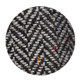 Grey Donegal Herringbone Tweed Wool (Italy)