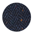 Navy Donegal Herringbone Tweed Wool (Italy)