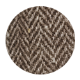 Brown Herringbone Natural Wool Tweed (Italy)