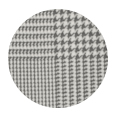 100% Super 150s Light Grey Prince of Wales Check Wool (Italy)