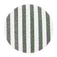 100% Two-Ply Green Striped Pinpoint Cotton