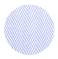 100% Two-Ply Light Blue Herringbone Cotton