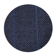 100% 21 micron Blue Stripe Navy (Italy)