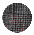 100% Grey Plaid with Red Overcheck Mouline (Italy)
