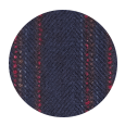 Red Stripe Blue Wool & Cashmere (Italy)