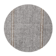 100% Super 160s Light Grey Pinstripe Wool (Italy)